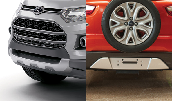 ECOSPORT FRONT AND REAR BUMPER APPLIQUES